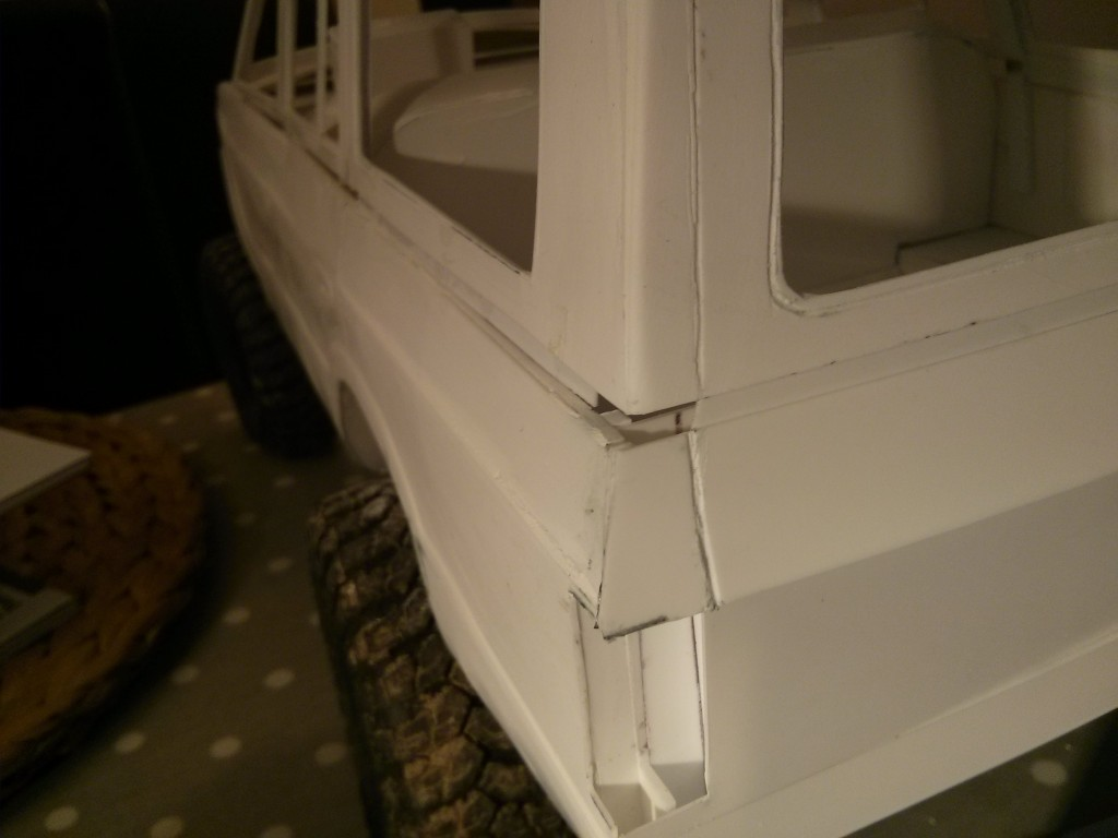 Toyota HJ60 1/10th RC Scaler Scratch Styrene Build