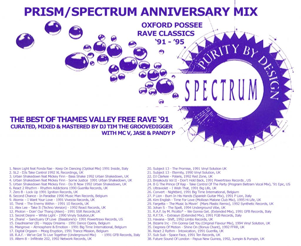 Prism/Spectrum Oxford 30th Anniversary Mix